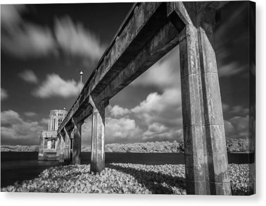 Clouds Above The Bridge Canvas Print