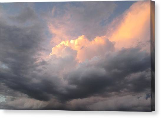 Clouds And God Canvas Print