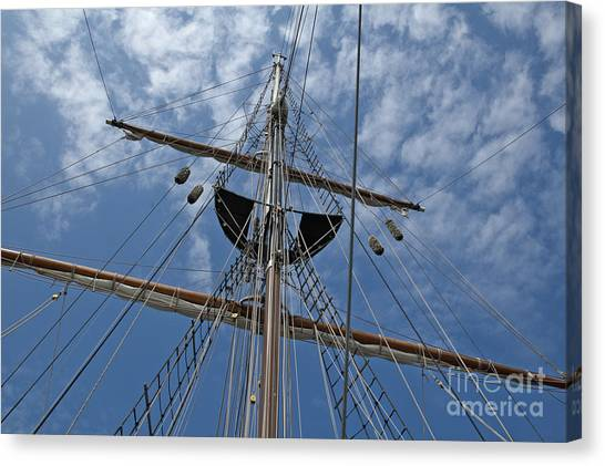 Clouds And Mast Canvas Print