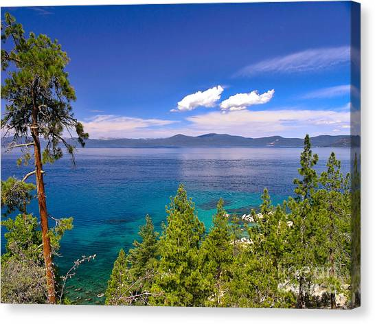 Clouds And Silence - Lake Tahoe Canvas Print