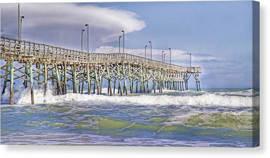 Tumbling Canvas Print - Clouds And Waves by Betsy Knapp