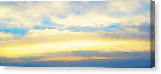 Clouds By Sharon Cummings Canvas Print by Abstract Art
