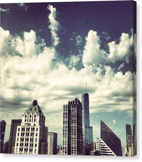 Architecture Canvas Print - Clouds by Jill Tuinier