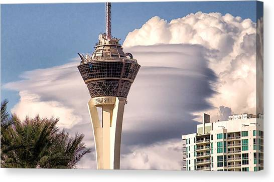 Clouds Make Vegas Canvas Print