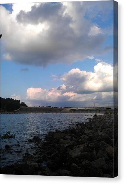 Clouds On Water Canvas Print by Kim Martin