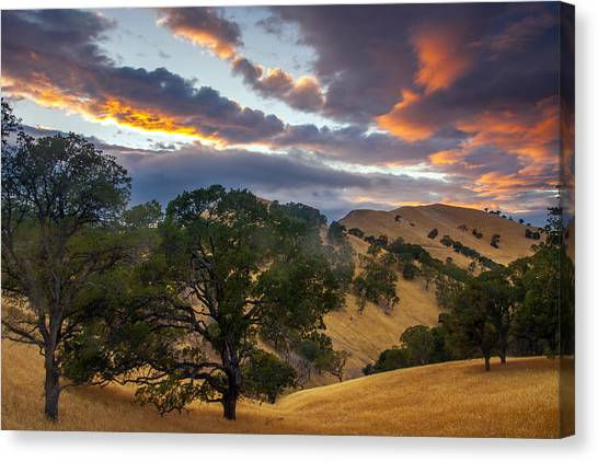 Clouds Over Black Diamond At Sunset Canvas Print