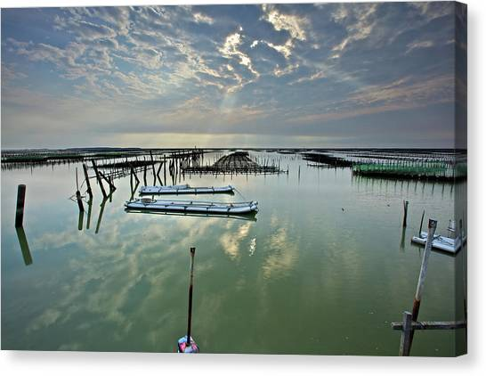 Clouds Over Chigu Lagoon Canvas Print