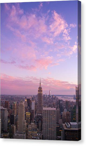clouds over Empire State Canvas Print