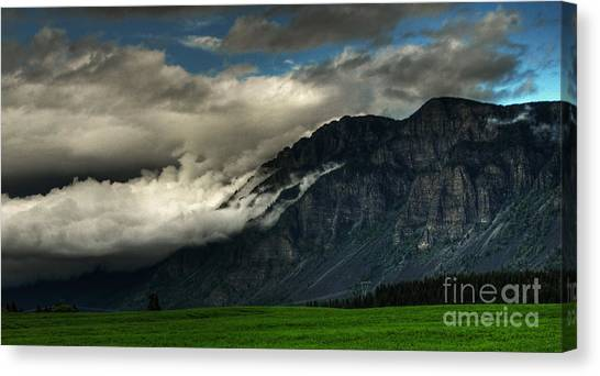 Clouds Over Goat Mountain Canvas Print