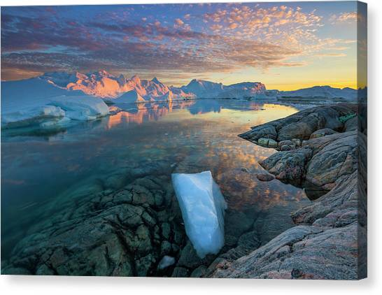 Clouds Over Ilulissat Icefjord Canvas Print by Johnathan Ampersand Esper