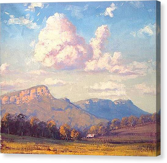 Homestead Canvas Print - Clouds Over Megalong by Graham Gercken
