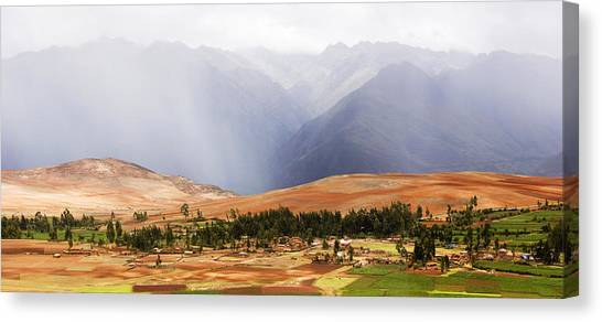 Andes Mountains Canvas Print - Clouds Over Mountains, Andes Mountains by Panoramic Images