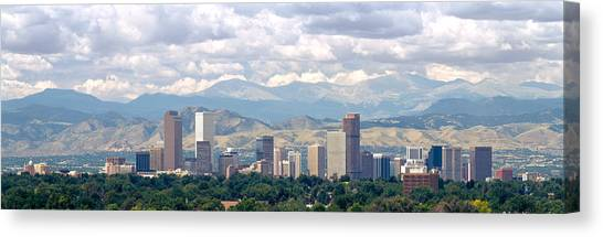 Clouds Over Skyline And Mountains Canvas Print