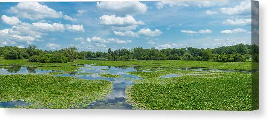 South Buffalo Canvas Print - Clouds Over South Park Lake, South by Panoramic Images