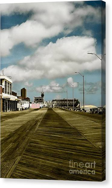 Clouds Over The Boardwalk Canvas Print