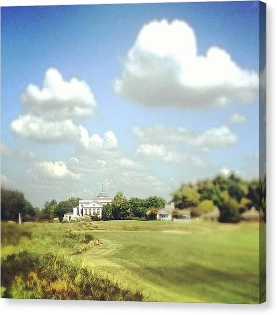 Golf Canvas Print - Clouds Over The Club House #iphone5 by Scott Pellegrin