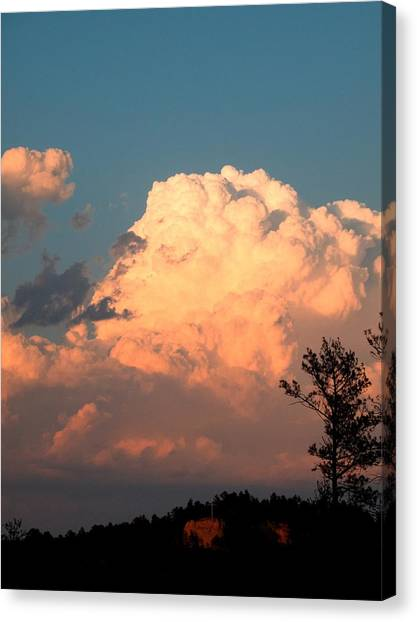Clouds Over The Cross Canvas Print