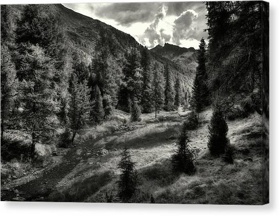 Clouds Over The Mountainscape Canvas Print