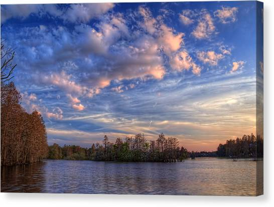 Inland Canvas Print - Clouds Over The River by Marvin Spates