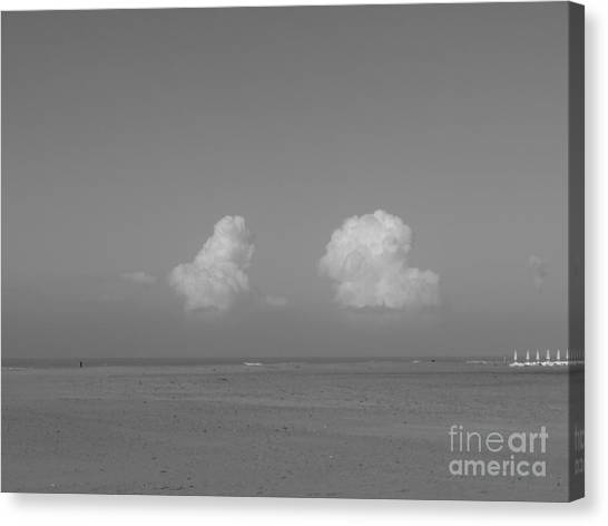 Clouds Over The Sea Canvas Print