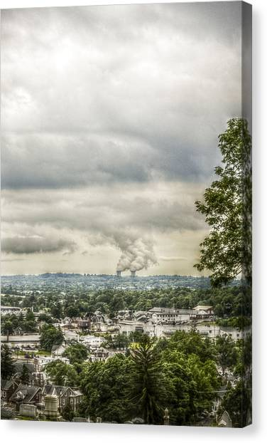 Storm Canvas Print - Cloudy At The Fairview by Trish Tritz