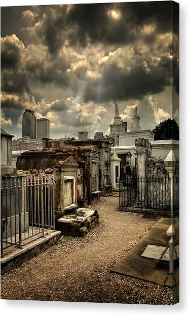 Cloudy Day At St. Louis Cemetery Canvas Print