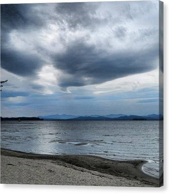 Vermont Canvas Print - Cloudy Day On The Bike Path by Burlington Bandit