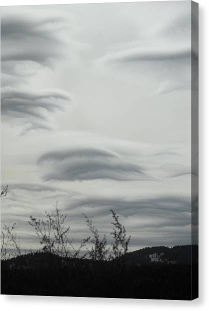 Cloudy Day Canvas Print by Yvette Pichette