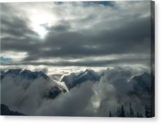 Treeline Canvas Print - Cloudy Range by Ryan McGinnis
