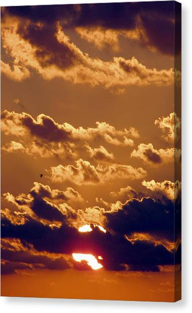 Key West Cloudy Sunset Canvas Print