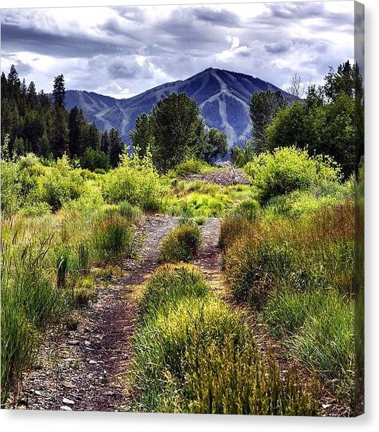 Idaho Canvas Print - #cloudyand75 #hermajesty #baldy by Cody Haskell