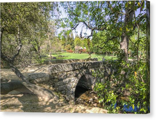 Clover Valley Park Bridge Canvas Print