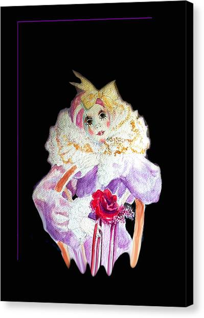 Clown Thinking Blank For You Canvas Print