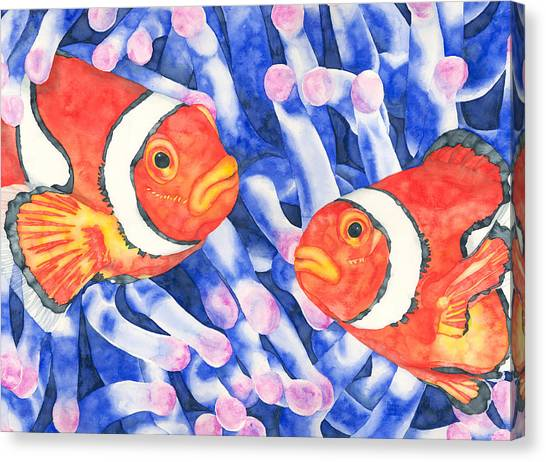 Clownfish Couple Canvas Print
