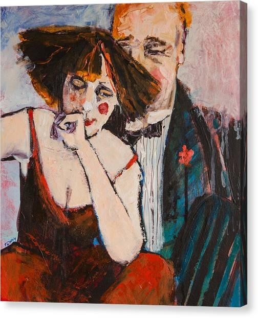 Clowning Around Canvas Print by Jennifer Croom