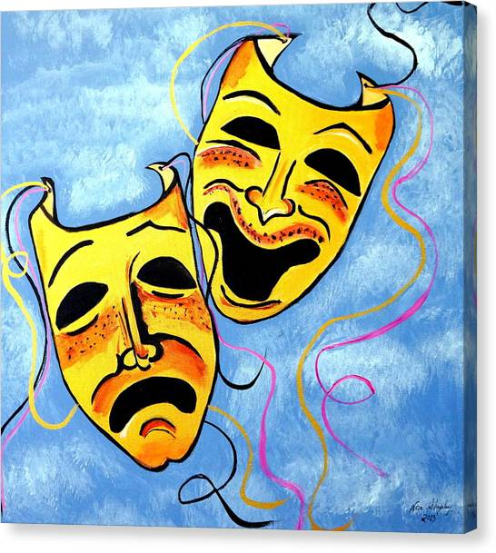 Tragedy And Comedy Masks Canvas Prints | Fine Art America
