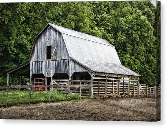 Clubhouse Road Barn Canvas Print