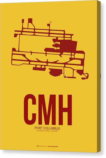 Airports Canvas Print - Cmh Columbus Airport Poster 3 by Naxart Studio