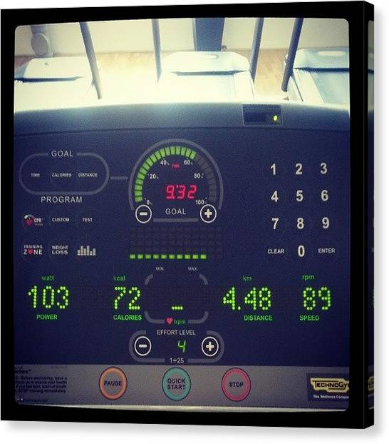 Goal Canvas Print - C'mon Cardio! #cardio #workout by Gasper Marc