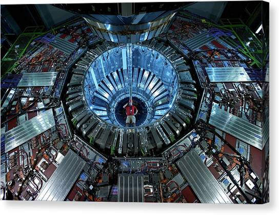 Cms Detector Canvas Print by Fons Rademakers/cern