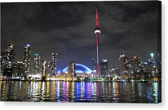 Toronto Skyline Canvas Print - Cn Tower 2 by Salbro Jr
