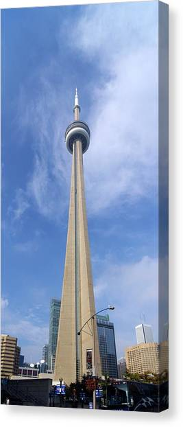 Tv Tower Canvas Print - Cn Tower by Mark Williamson/science Photo Library