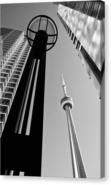 Cn Tower Surrounded Canvas Print