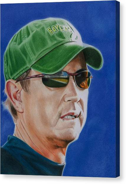 Baylor University Canvas Print - Coach Art Briles by Brian Broadway