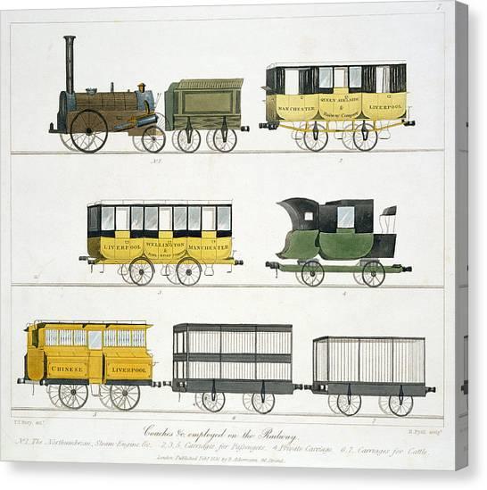 Train Canvas Print - Coaches Employed On The Railway, Plate by Thomas Talbot Bury