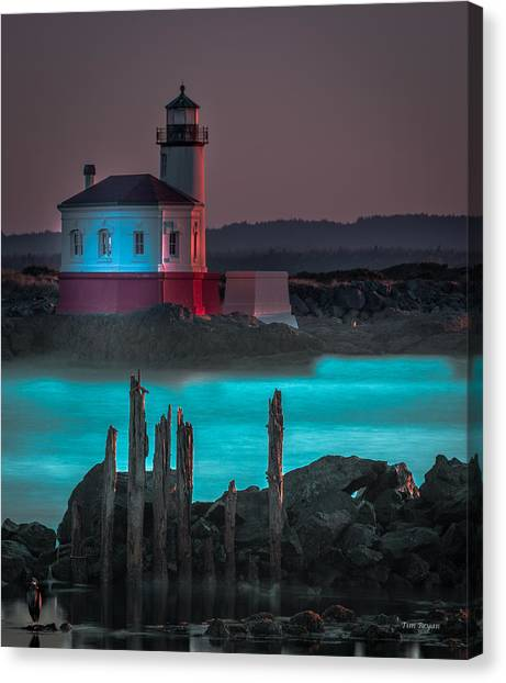 Coaquille Lighthouse Canvas Print
