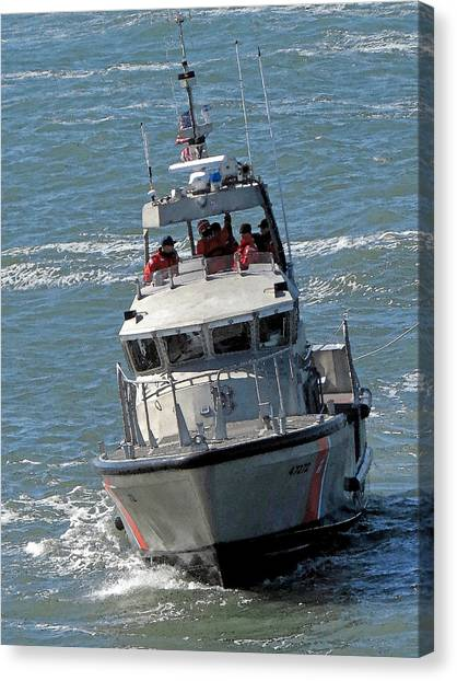 Coast Guard At Depot Bay Canvas Print
