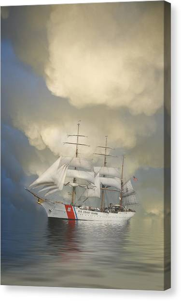 Coast Guard Canvas Print - Coast Guard Cutter Eagle by Jerry McElroy