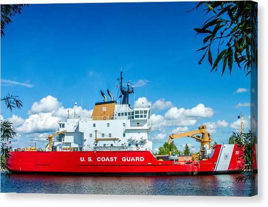 Coast Guard Canvas Print - Coast Guard Cutter Mackinaw by Bill Gallagher