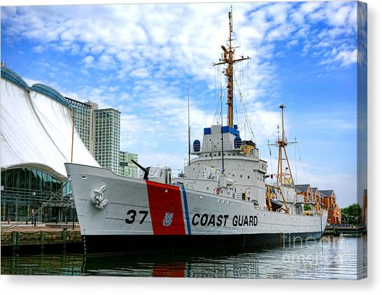 National Guard Canvas Print - Coast Guard Cutter Taney by Olivier Le Queinec